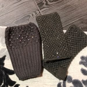 Accessories - Knit gloves with boot warmers